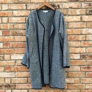 Forever 21 silver threaded swing coat
